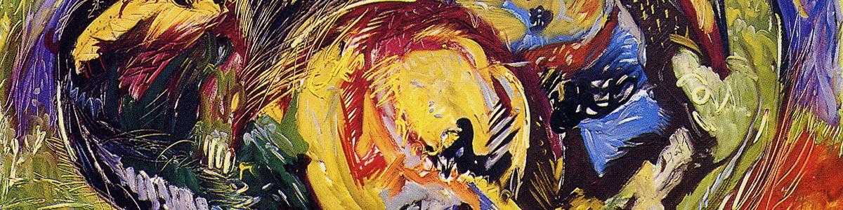 ACROTERIO 1991 olio su tela cm 120X150