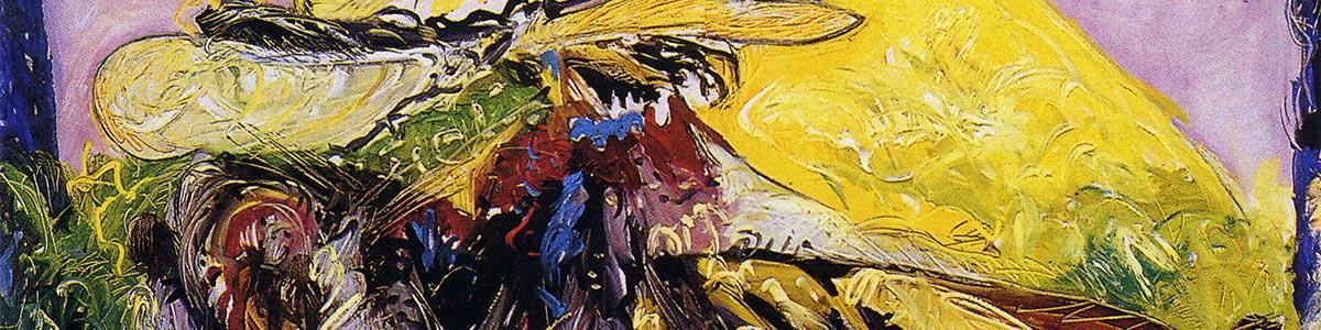 DA FIRENZE AL CAIRO 1991 olio su tela cm 120X150